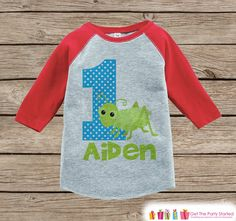 Boy's Birthday Outfit - Bugs Birthday Shirt - Onepiece or Tshirt - Bug First Birthday Outfit - Red Raglan Birthday Shirt - 1st Birthday Top