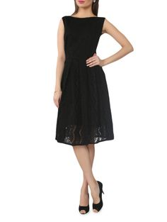 Buy From The Ramp Solid black net sleeveless dress Online, , LimeRoad