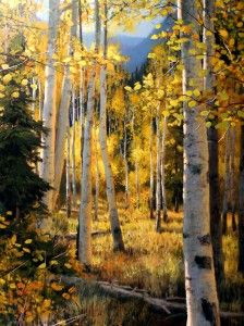 Gilded Forest ~~ Michael Godfrey- American artist born in Germany 1958