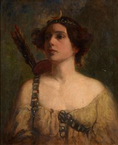 Charles Edward Proctor (1866-1950) - Portrait of a Lady as Diana