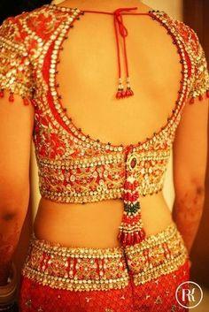 30+ Bridal Blouse Designs for Silk Sarees & Pattu Sarees in 2018-2019