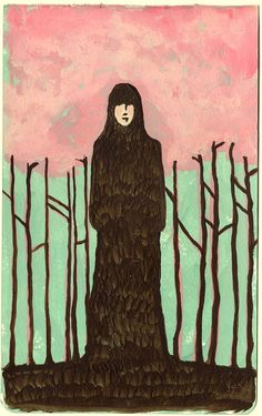 Spring Grounded Girl Stands Still  by rowenamurillo,