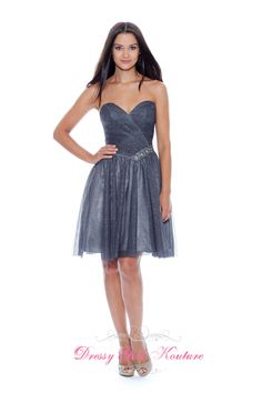 Decode 1.8 181919 #ShineLikeAstar sparkle tulle Charcoal #eveningdress by Decode 1.8