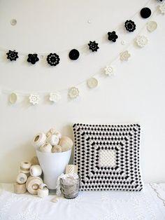crochet doily garland