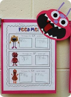 Monster Mash Word Sort Freebie :) as seen on First Grade Faculty  www.firstgradefaculty.com