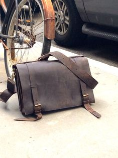 Rugged leather briefcase, Mens leather messenger bag, Leather ...