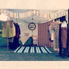 Cute clothing booth
