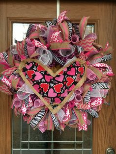 Valentine Wreath, Valentines Day Deco Mesh Wreath, Valentine Deco Mesh, Valentines Day, Valentine Heart Wreath, Valentines Deco Mesh by IAmThatWreathLady on Etsy