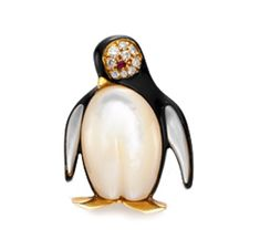 A Multi-gem and Diamond Penguin Brooch. Via FD Gallery, www.fd-inspired.com