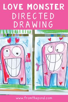 Create beautiful and bright love monsters this Valentine's Day with our step-by-step guide! Kindergarten Art Projects, Classroom Art Projects, Kindergarten Activities, Kindergarten Library, Valentines Art, Valentines Day Activities, Monster Activities, Art Classroom Management, Mardi Gras