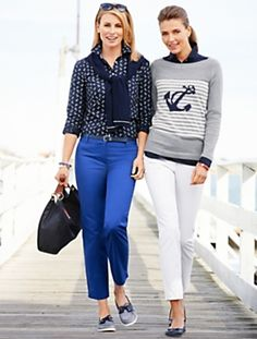 Talbots - Anchor Stripe Sweater | | Misses $79.50 in poppy, malachite (green) and slate heather, Feb 2014