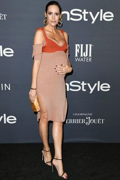 Louise Roe in Victoria Beckham.
