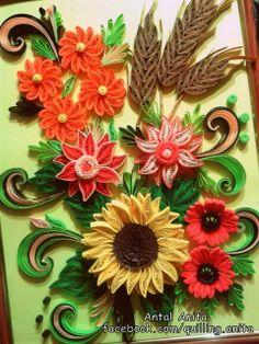 quilling summer bouquet