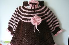 MADE TO ORDER Crocheted Brown and Pink by fashionablekids