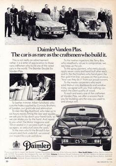 1976 Daimler Double Six Vanden Plas Saloon Aussie Original Magazine Jaguar Daimler, Old Classic Cars, Advertising, British, Lettering, The Originals, Brochures, Sweet, Baby