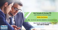 Golden Opportunity to get CANADA & EUROPE PR under Investment and Business Category. Buy Govt Bonds, Agriculture, Residential, Commercial Property Meet Canada Immigration Experts SWICS PVT LTD (Lic 01/MC-2) Punjab Govt. 1st Approved Company Call: 8872198800 Venue: SCF 66, Phase 5, Mohali Business Visa, Overseas Education, Facebook Sign Up, Agriculture, Opportunity, Bond, Acting, Investing, Commercial