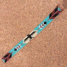 Thunderbird met pijlen Bead Loom armband Boheemse door PuebloAndCo                                                                                                                                                                                 More