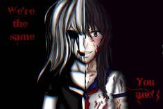 Yandere Sim: The Same by Heresyangel Animes Yandere, Yandere Simulator, Anime Love, Geek, Icons, Deviantart, Manga, Dibujo, Make Up