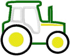 Tractor Applique Designs 445 by LAPPF on Etsy, $3.00