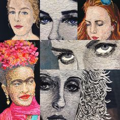 Looking for something to direct her energy into after her children had left home, Catherine Hicks dug deep into her. Contemporary Embroidery, Textile Artists, Make Art, Vincent Van Gogh, Embroidery Art, Art History, Fiber Art, Photos, Instagram