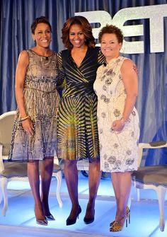 First Lady Michelle Obama, Robin Roberts, Debra Lee