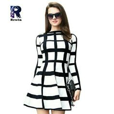 Skater style dress Beautiful black and white dress Boutique Dresses