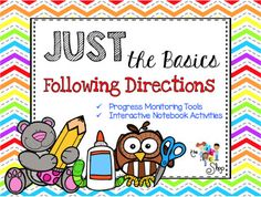 This AMAZING activity pack is perfect for students on your caseload who need support in following directions and basic vocabulary skills. Its also PERFECT for English Language Learners. There are 15 picture boards included along with corresponding data sheets. Auditory Processing, Picture Boards, Following Directions, English Language Learners, Data Sheets, Interactive Notebooks, Vocabulary, Students, Child