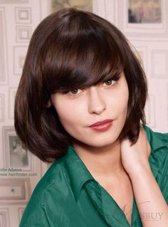 Classic Spiked Natural Medium Straight Bob Hairstyle Real Human Hair Wig about 10 Inches Short Hair With Bangs, Long Hair Cuts, Short Hair Styles, Cheap Human Hair Wigs, Remy Human Hair, Cheap Wigs Online, Mushroom Hair, Haircut And Color, Hair Images