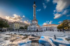 The Heart of Lisbon - (HDR Portugal) by blame_the_monkey, via Flickr