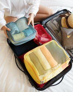 MochiThings.com: Luggage Mesh Bag Set