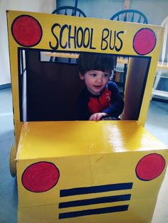 DIY homemade cardboard box school bus  sc 1 st  Pinterest & GigaTent My First School Bus Play Tent - Walmart.com | Boys Will ...