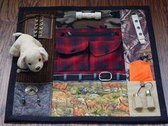 Busy Outdoorsman Busy Hands Fidget Quilt by EndearingDignite