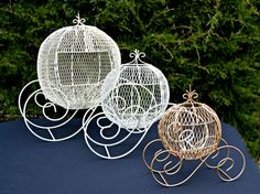 Wire Cinderella Coach/Wedding by MoreFriendsAndCo on Etsy