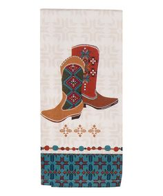 Love this Southwest at Heart Boot Tea Towel - Set of Two on #zulily! #zulilyfinds