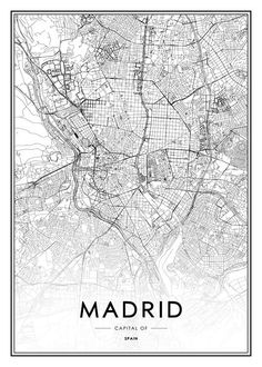 Madrid Poster in the group Posters & Prints at Desenio AB Carte New York, Washington Dc, Photo Pop Art, Poster 40x50, Plan Ville, Rome Map, Desenio Posters, Personalised Posters, Buy Posters Online