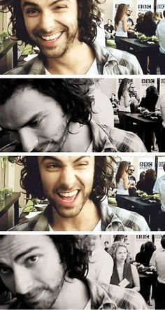Aidan Turner. I have been looking everywhere for this. He's just so cute!