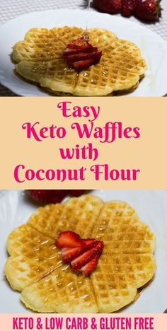 Keto Waffles with Coconut Flour – Fluffy and Delicious Efortless Keto Waffles with coconut flour perfect for breakfast or dessert. Have you made it?Efortless Keto Waffles with coconut flour perfect for breakfast or dessert. Have you made it? Low Carb Desserts, Low Carb Recipes, Dessert Recipes, Coconut Flour Recipes Low Carb, Coconut Flour Desserts, Diet Recipes, Vegan Recipes, Keto Waffle, Waffle Recipes