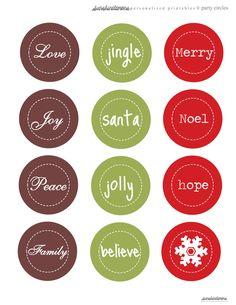 free printable christmas party circles