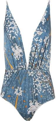 Shop for Clube Bossa Clavert Deep-V One Piece Swimsuit at ShopStyle.com