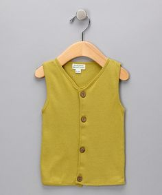 Toddler could totally rock this chartreuse geek vest. Fall Essentials | Daily deals for moms, babies and kids #zulily #fall
