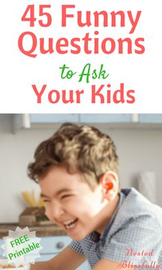 45 Funny questions to ask you kids. Get funny answers of you funny questions. Kids Questions, Funny Questions, This Or That Questions, Gentle Parenting, Kids And Parenting, Foster Parenting, Parenting Humor, Parenting Advice, Toddler Activities