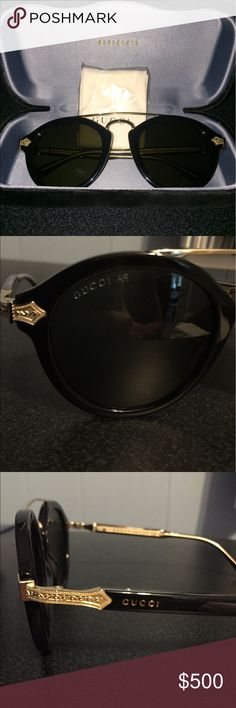 Gucci Round-Frame Acetate Sunglasses Gucci Round-Frame Acetate Sunglasses. Black Gucci Accessories Sunglasses