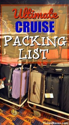 Our Ultimate Packing List for a Cruise - whether it's your first cruise or 100th cruise.There's always something new to pack for a cruise or leave at home.