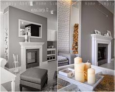 simply about home: Od wizualizacji do realizacji Decor, Interior Design Projects, Interior, Home, Simply Home, Fireplace