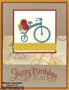 Birthday Bikes by Michelerey - Cards and Paper Crafts at Splitcoaststampers