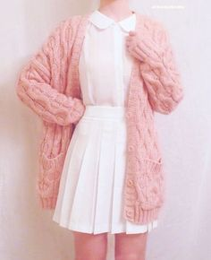 Ideas Moda Casual Outfits Ideas Cardigans For 2019 Pastel Fashion, Kawaii Fashion, Cute Fashion, Fashion Vintage, Trendy Fashion, Winter Fashion, Japanese Fashion, Asian Fashion, Ulzzang Fashion