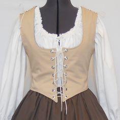 Renaissance Costume Corset  Pirate bodice  by MidnightsMeadow, $49.00