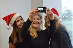 Beth, Natalie and Gemma take an #XmasHatSnap selfie! Grab your hats and get involved this Christmas so we can #combatisolation among as many people as possible who have disabilities and mental health needs. More info: http://www.unitedresponse.org.uk/Event/xmashatsnap