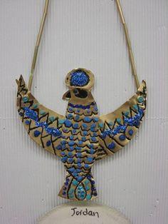 Egyptian Necklace - Metal Foil Repousse