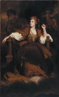 Mrs. Sarah Siddons als de tragische muze ~ 1784 ~ Olieverf op doek ~ 236 x 146 cm. ~ Henry E. Huntington Library and Art Gallery, San Marino, Californië